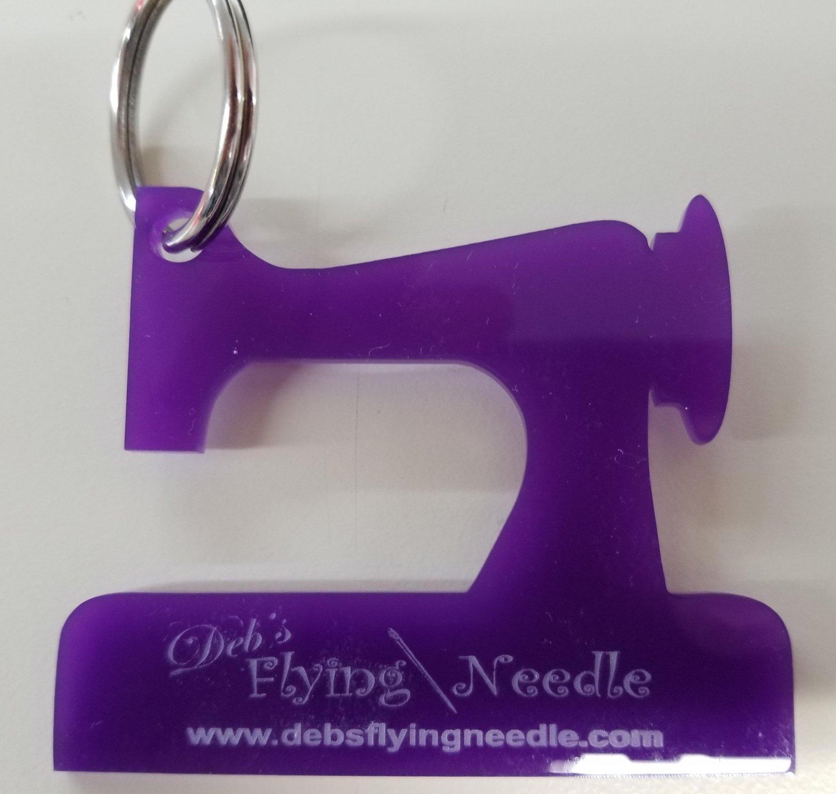 Keychain Sewing Machine (Purple) - Acrylic
