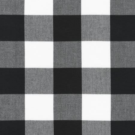 ROBERT KAUFMAN 2 PLAID BLACK 100% COTTON P167252