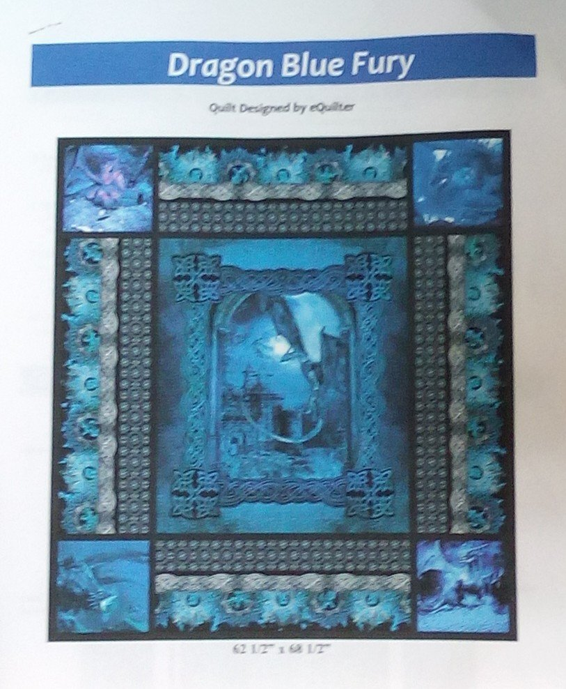 *EQUILTER DRAGON QUILT KIT/ BACK NOT INCLUDED