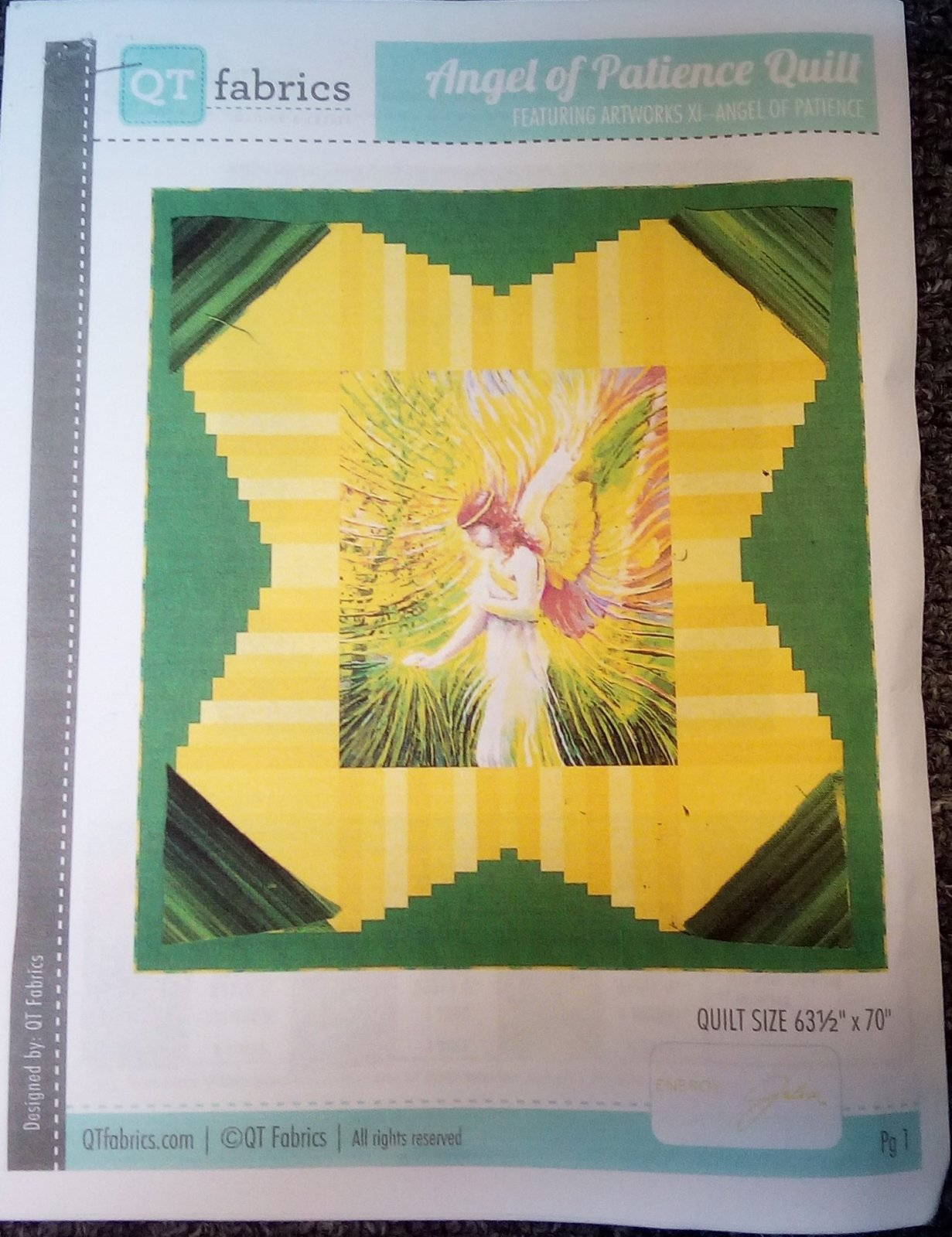 *ANGEL QUILT KIT/BACK NOT INCLUDED