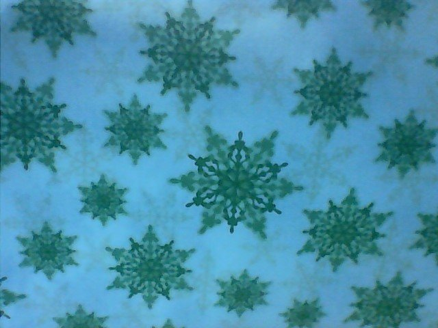 Holiday Magic 38968M-3 green SNowflakes