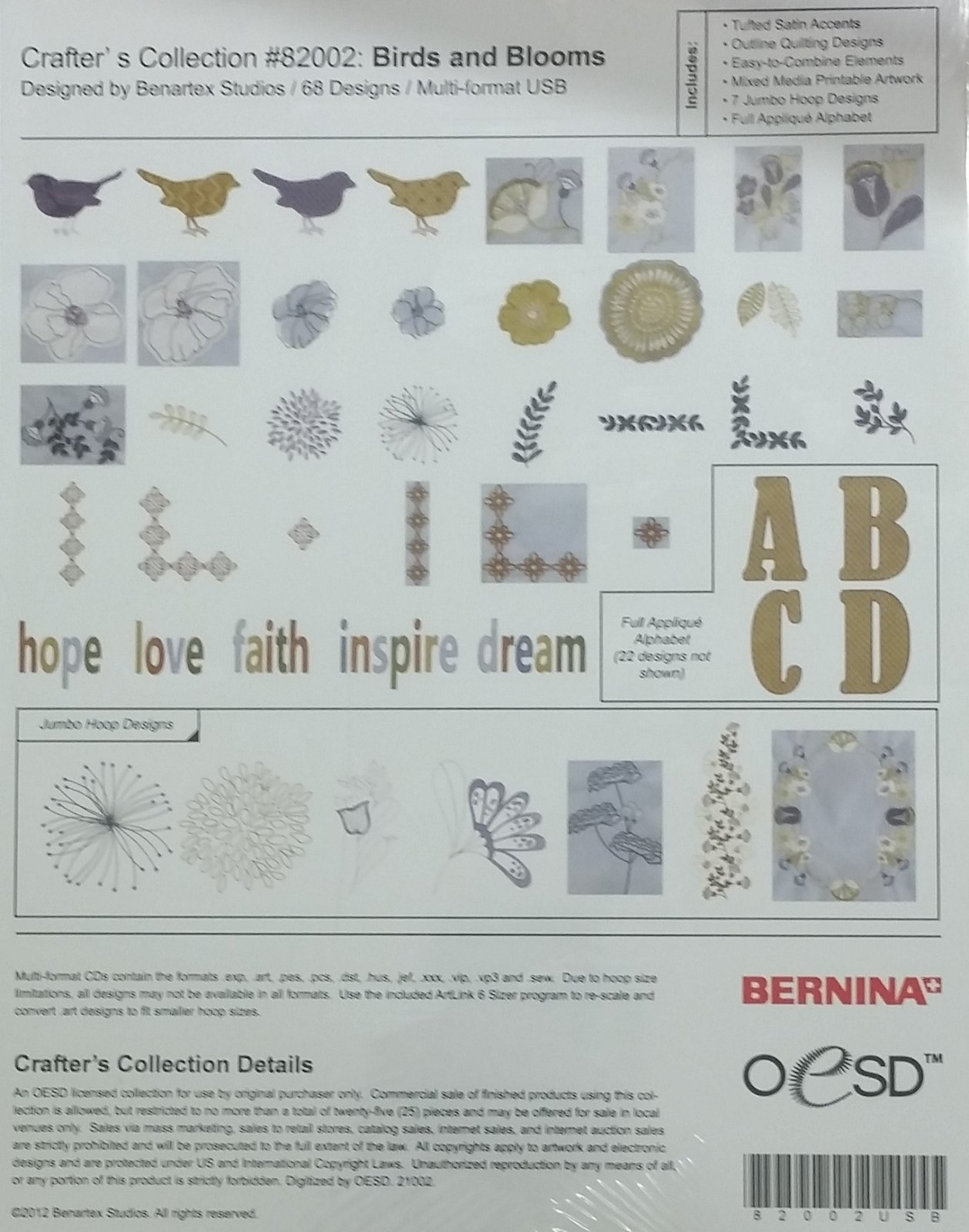 BERNINA Exclusive II - Birds and Blooms Collection - Q3