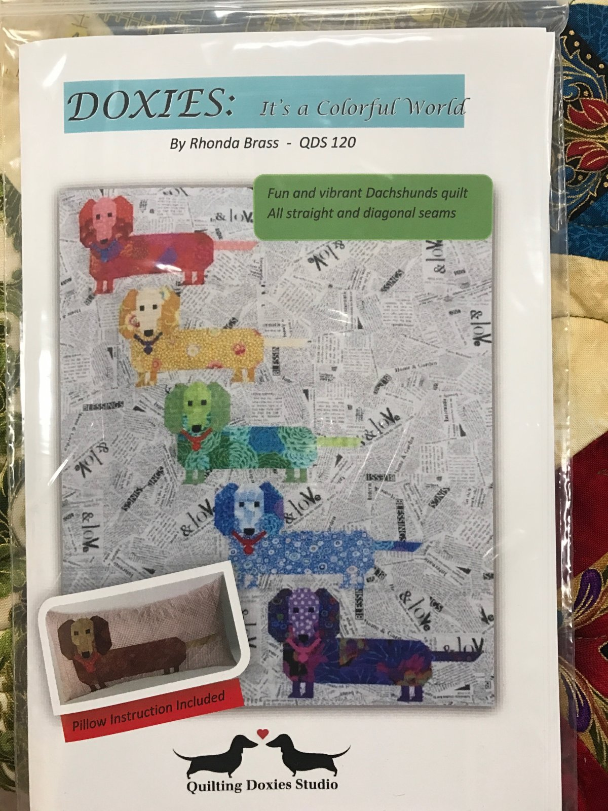 Doxie's - It's a Colorful World Pattern