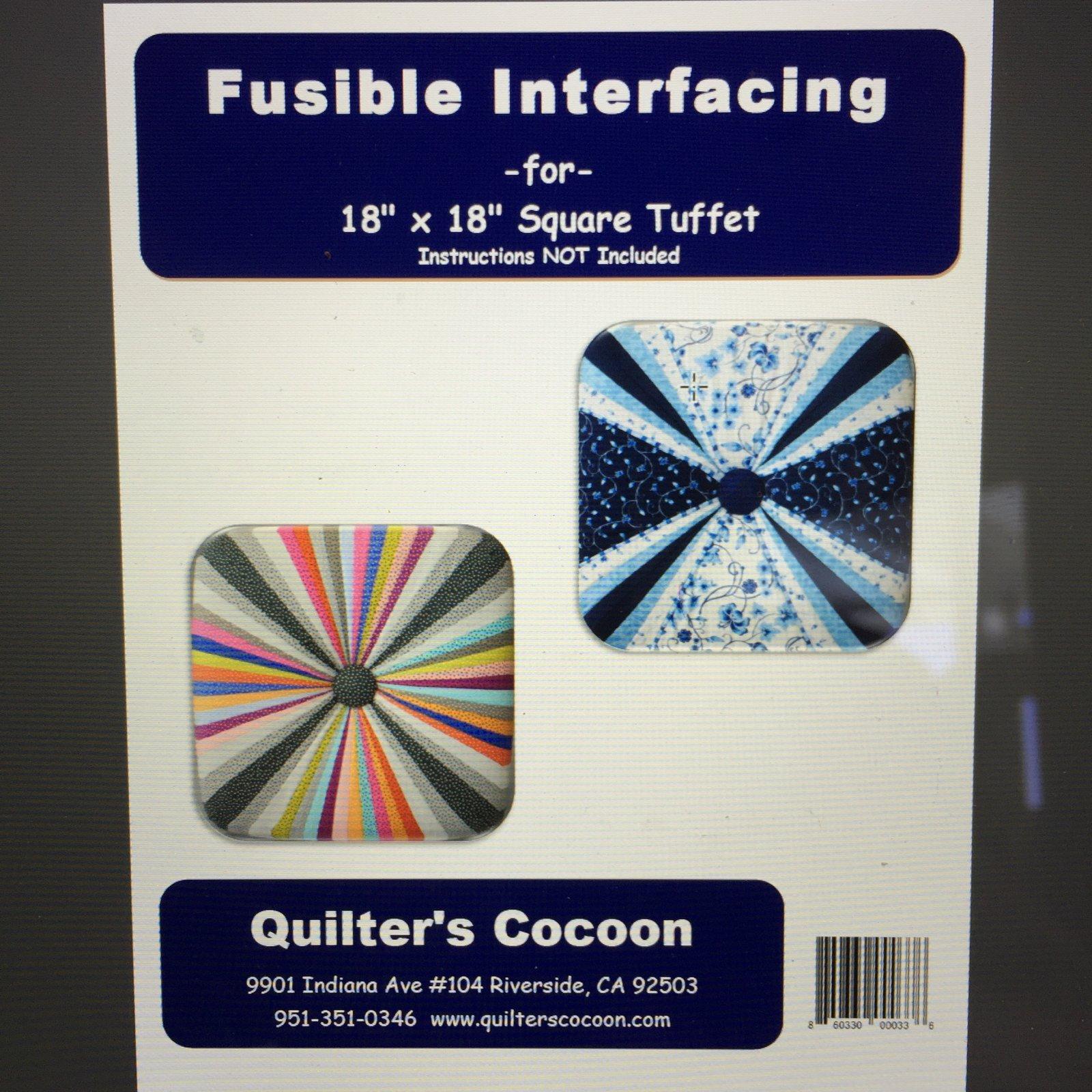 Square Tuffet printed fusible interfacing