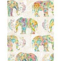 Bohemian Dreams - Cream Elephants
