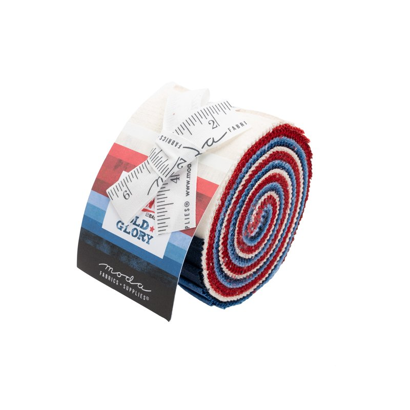 Grunge Junior Jelly Roll Red White & Blue 20pcs