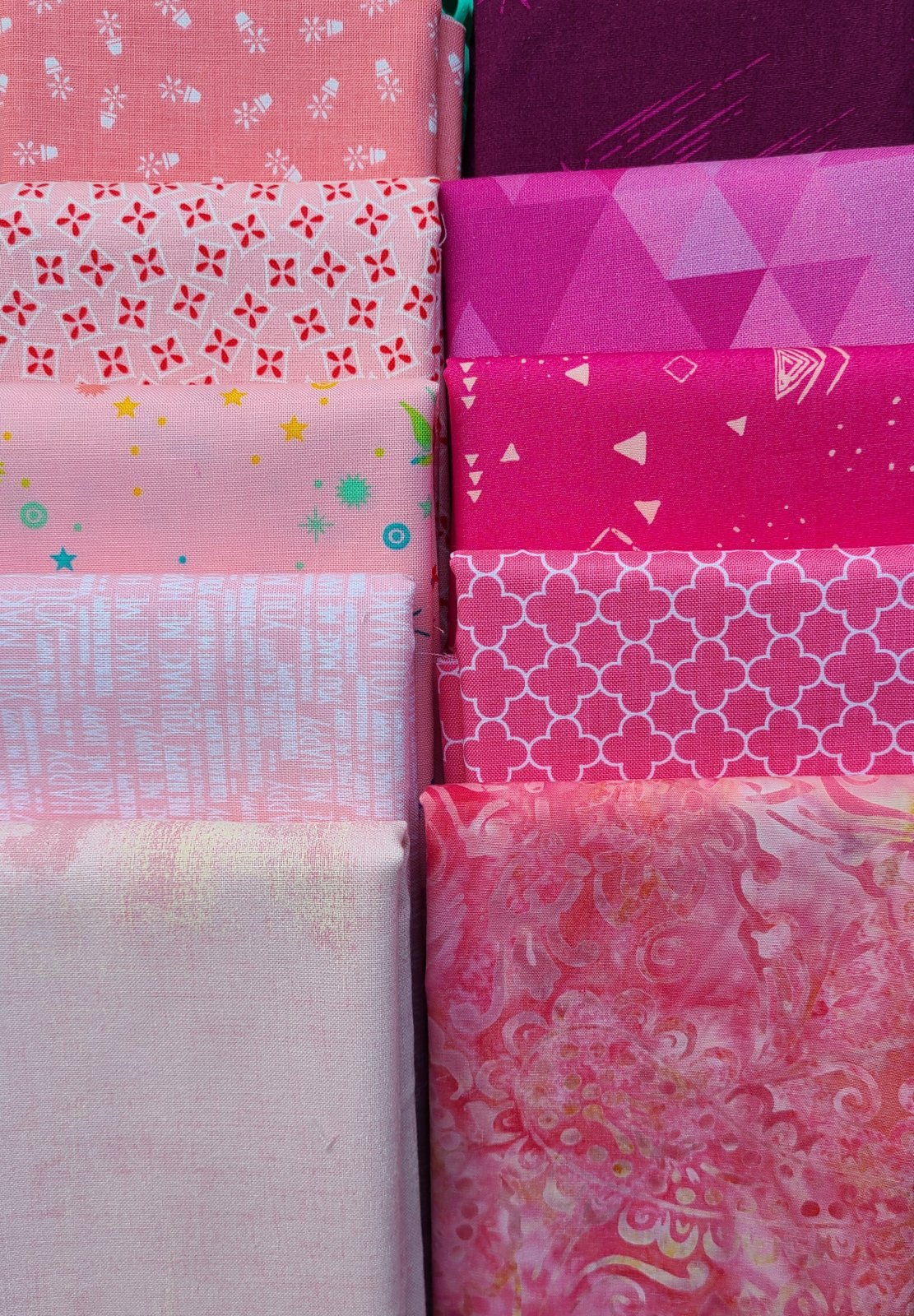 Stitch Pink Fabric Bundle 2020