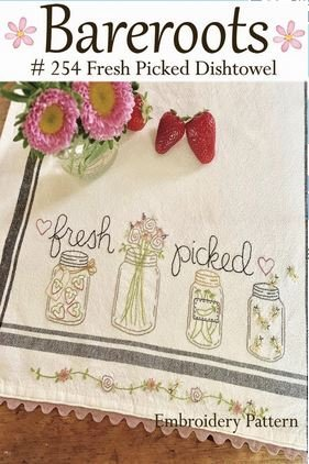Bareroots - Fresh Picked Dishtowel Embroidery Pattern