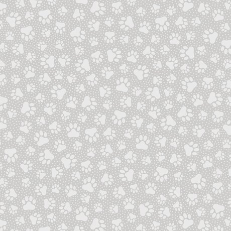 Quilting Illusions Grey Paw Prints