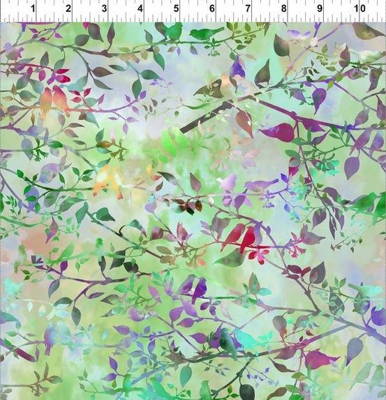 Garden of Dreams Birds Spring Green