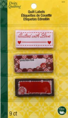 Sew In Embroidered Labels Quilted With Love