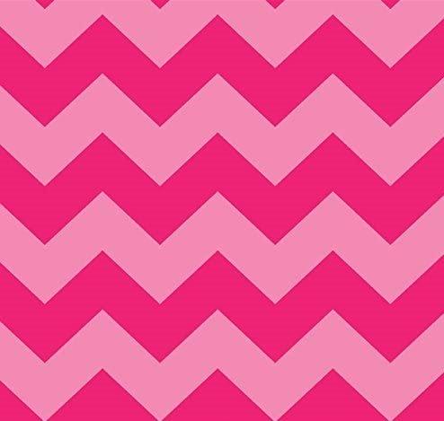 Chevron Fleece - Tonal Pink