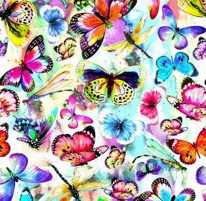 Fantasy Butterflies Multi