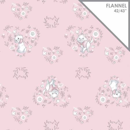 Pink Disney Sweet Marie on Flannel