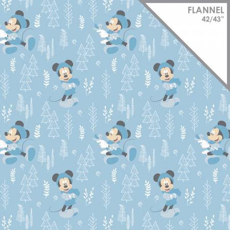 Blue Disney Forest on Flannel