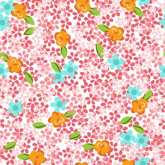Blank - Roses & Arrows - Ditsy Floral