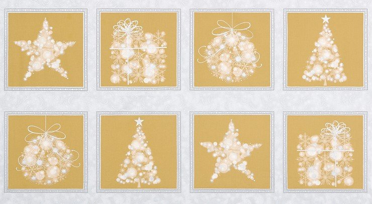 Champagne Christmas Star Panel
