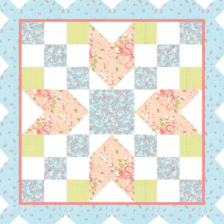 Barn Star 4 Quilt Kit 40x 40