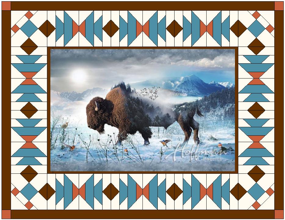 Wildest Dream Bison quilt kit