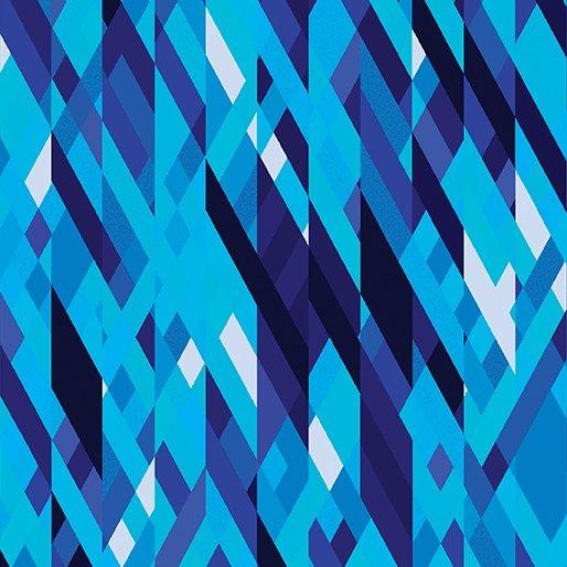 Color Collage Blue Sunburst