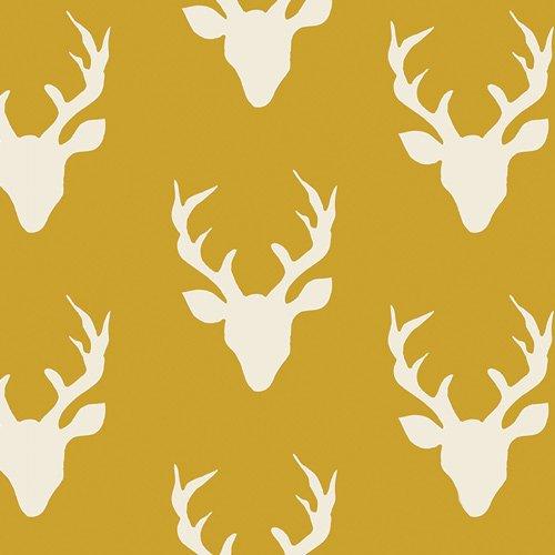 Buck Forest Mustard - Knit  - Art Gallery - Bonnie Christine