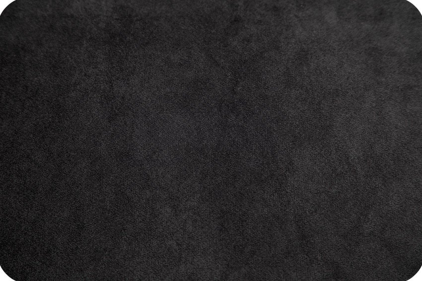 Black Cuddle Solid 58/60 Minky