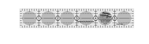 Creative Grids Ruler 1inx6in