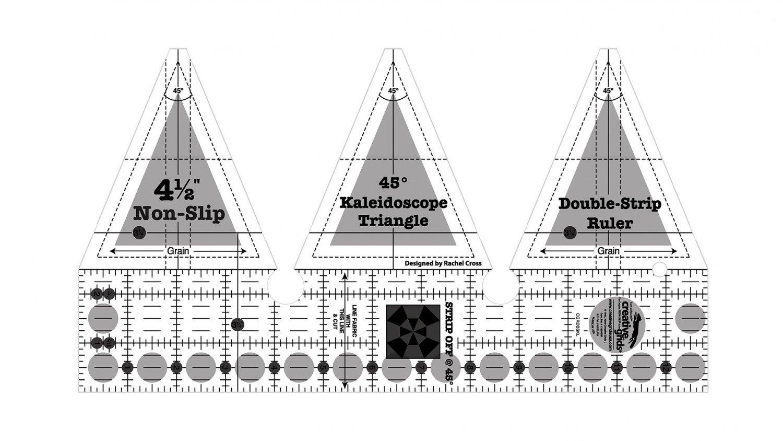 Kaleidoscope Dbl Strip Ruler