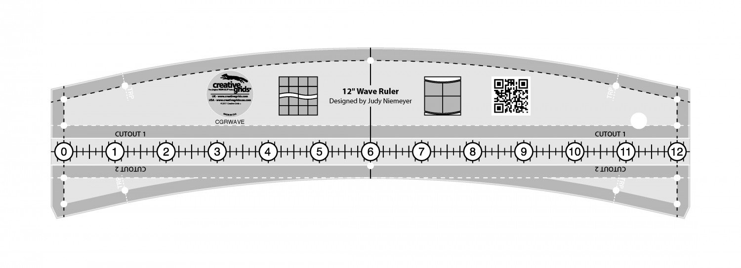 Creative Grids 12 Wave Ruler