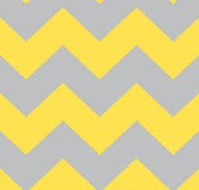 Chevron Fleece - Gray/Yellow