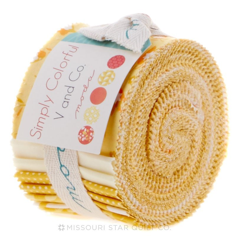 Simply Colorful Junior Jelly Roll - Yellow