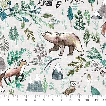 Forest Fable Taupe Woodland