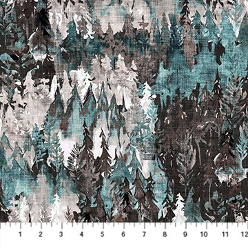 Forest Fable Teal Trees