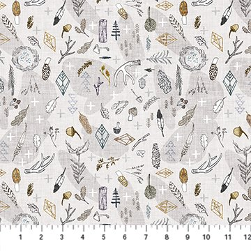Forest Fable Taupe Branches