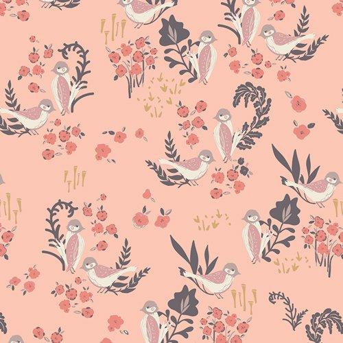 Feathered Fellow Blush  - Art Gallery - Bonnie Christine