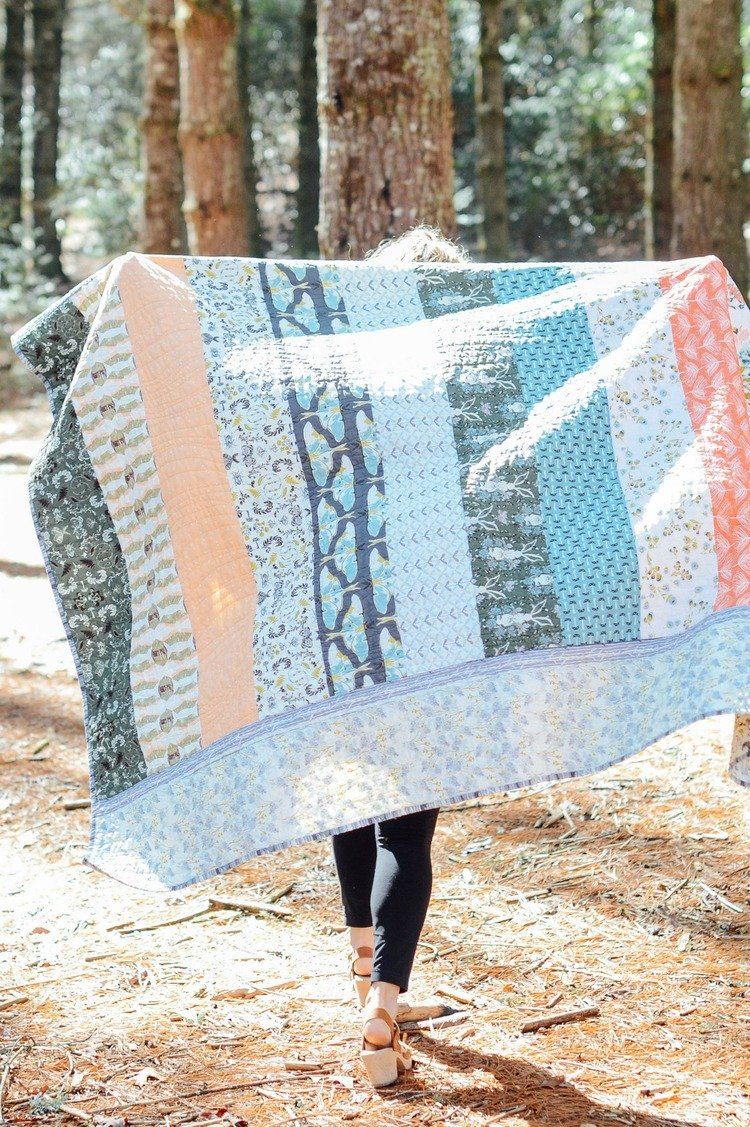 Forest Floor Zippy Strippy Quilt Kit
