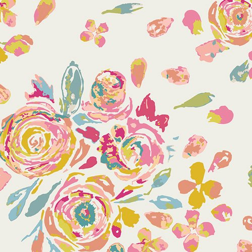 Swifting Flora Fond by Art Gallery Fabrics