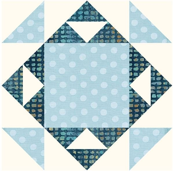 January Blues 2021 Block Pattern