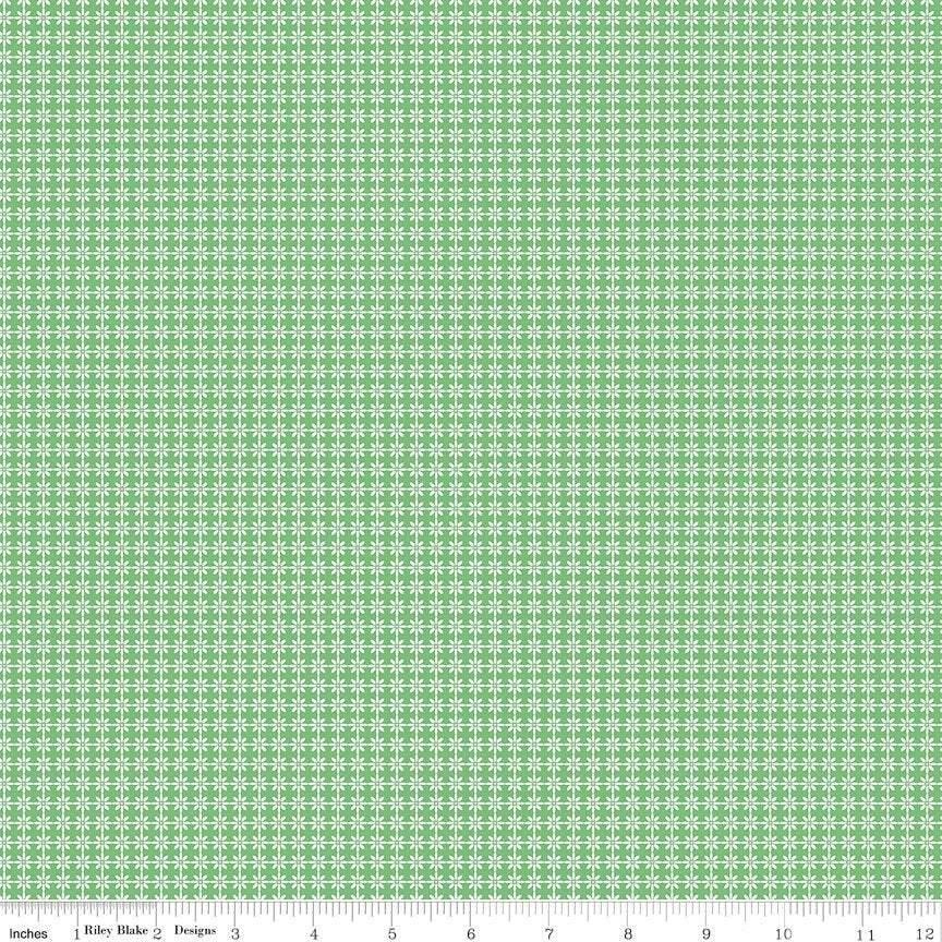 Winifred Rose Tile Green