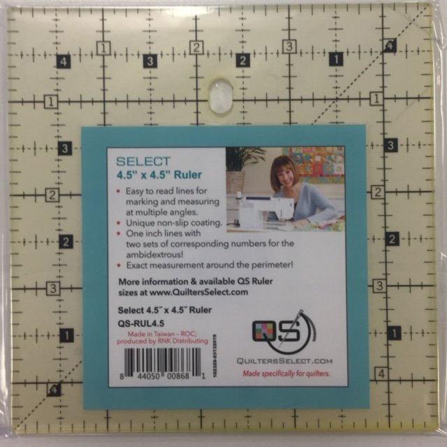 Quilters Select 4.5 square ruler