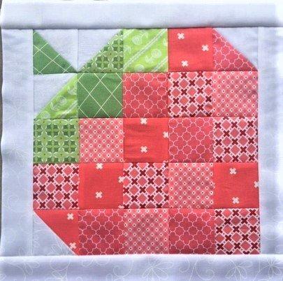 Strawberry - 12 Mini Quilt