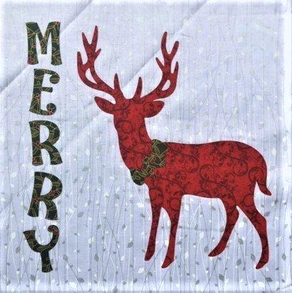 Merry Reindeer - 12 Mini Quilt