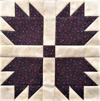 Bear Paw - 12 Mini Quilt