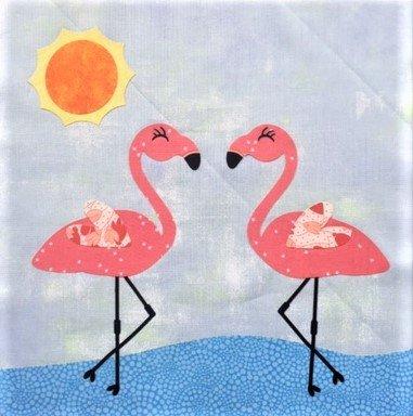 Flamingo Dance -  12 Mini Quilt