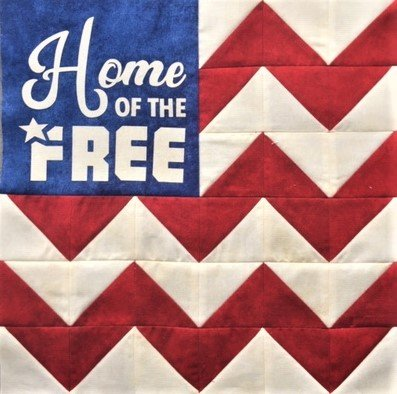 Home of the Free - 12 Mini Quilt