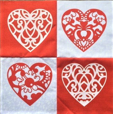 Lacey Hearts - 12 Mini Quilt