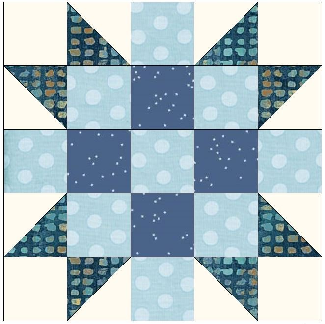 January Blues Block Pattern