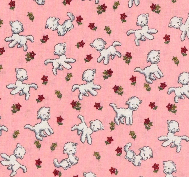 Riley Blake - Toy Chest - Little Lambs - Pink