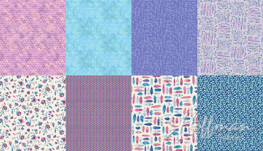 All A Twitter Wildberry 2 Yard Panel