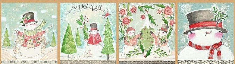 Snow Fun Sew Cute Panel 12 x 44